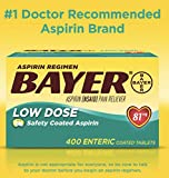 Bayer Low Dose Safety Coated Aspirin 81 mg, 400
