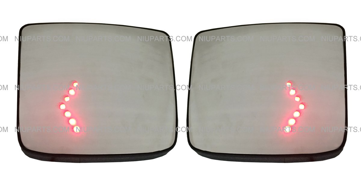 Door Mirror Wide Angle Convex with Turn Heating Circuit LH & RH (Fit: Volvo VNL Truck)) NIUPARTS
