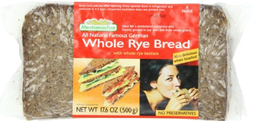 Mestemacher Bread, Whole Rye Bread, 17.6-Ounce Packages (Pack of 12) ()
