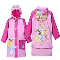 horizon where hope spread Princess Baby Children Kids Girls Rainproof Long Raincoat Rainsuit Poncho Rain Slicker (XXL, Princess)