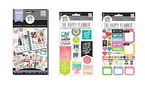 me & my BIG ideas Planner stickers bundle: Life Quotes, EveryDay Reminders, Planner Basics (Set of 3)