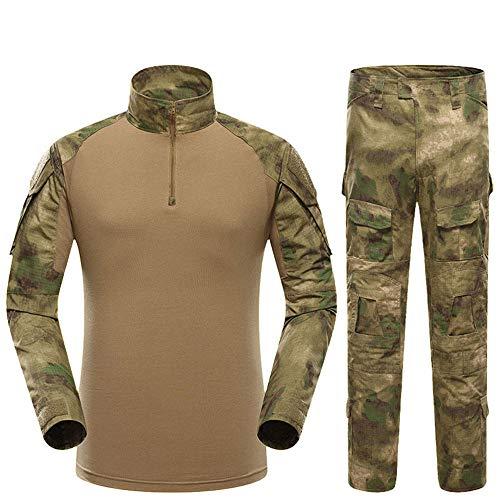 - Outdoor Woodland Hunting Shooting Shirt Battle Dress Uniform Tactical BDU Set Combat Clothing Camouflage US Uniform - A-TACS FG - S