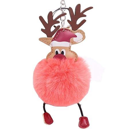 Amazon.com: Unetox - Llavero de Navidad con colgante de bola ...
