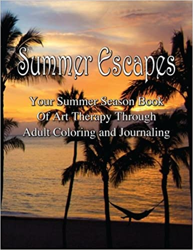 Adult Coloring Journal - Summer Escapes