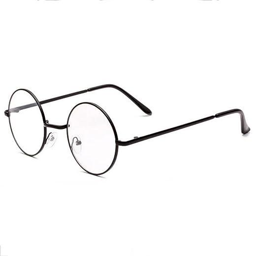 Z&YQ clair lentille Lunettes anti-fatigue à lunette ronde myopie miroir aviateur , silver frame