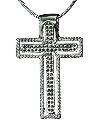 0.24ct Pavé Diamond 14K White Gold Cross Pendant (NECKLACE NOT INCLUDED)