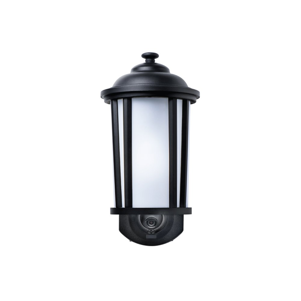 Maximus Video Security Camera & Outdoor Light - Traditional Black - Works with Amazon Alexa by Maximus (Image #1)