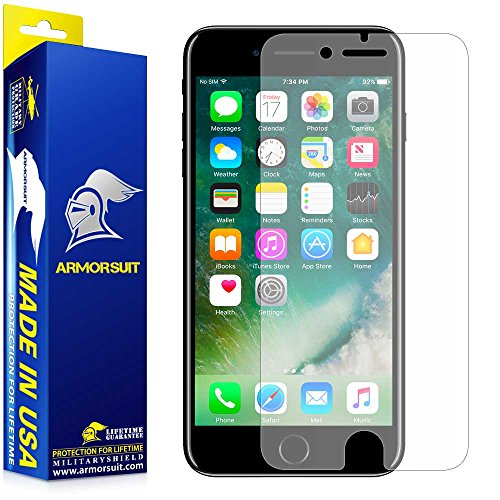 iPhone 7 Anti-Glare Screen Protector, ArmorSuit MilitaryShield® Lifetime Replacements - Full Coverage...