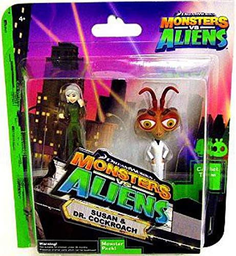 Monster vs. Aliens Susan & Dr. Cockroach - 2 Pack