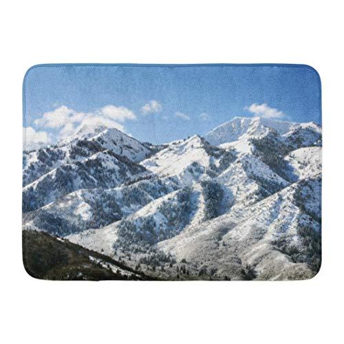 AOBY Doormats Bath Rugs Outdoor/Indoor Door Mat Utah Wasatch Mountains in Ogden Just North of Salt Lake City Which is Popular for Skiing Snowboarding Bathroom Decor Rug 16