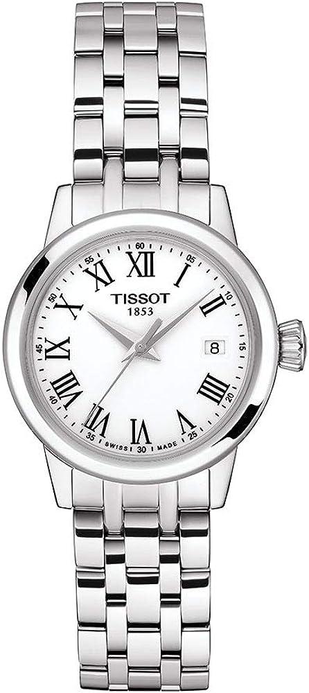 Tissot orologio Classic Dream Lady 28mm Bianco quarzo Acciaio T129.210.11.013.00