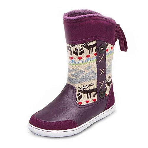 U-MAC Girls Snow Boots Comfort Winter Warm Boots Great Fu...