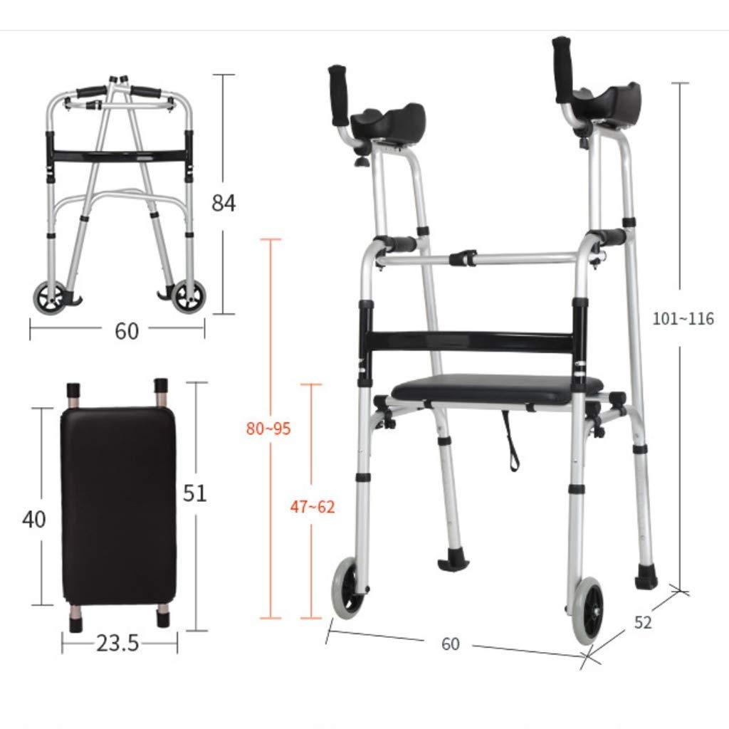 YUNSHINE Rollator Walkers para personas mayores con soporte de ...