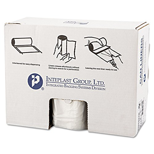 60 Gallon High Density Can Liner, 22 Micron in Clear by Inteplast Group (Image #3)
