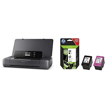 HP Officejet 200 Mobile - Impresora de Tinta (PCL 3, 4800 x 1200 dpi, 50/60 Hz, A4, Papel Satinado, Papel fotográfico) + 62 - Pack de Ahorro de 2 ...
