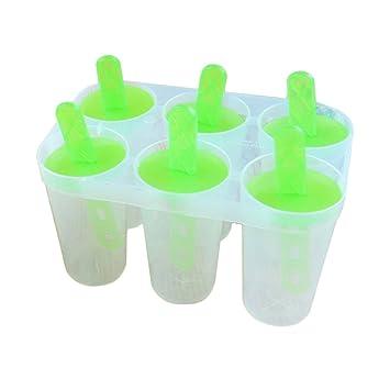 Compra SZTARA Creative Popsicle Moldes zumo de congelación Popsicle Molde Tupperware calidad DIY 6 piezas sin BPA Cubito de hielo bandeja en Amazon.es