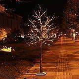 Rainleaf 96 LEDs Snow Tree, 6-Feet, Warm White