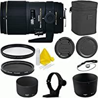 Sigma 150mm f/2.8 EX DG OS HSM APO Macro Deluxe Lens Kit For Nikon