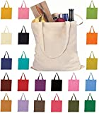 Set of 144 Wholesale Cotton Tote Bags 100% Cotton Reusable Tote Bags 12 Dozen