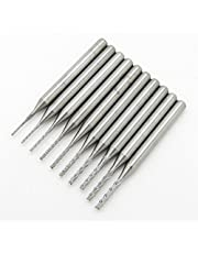 1/8'' Carbide End Mill Engraving Bits CNC PCB Machinery Cutting Pack of 10