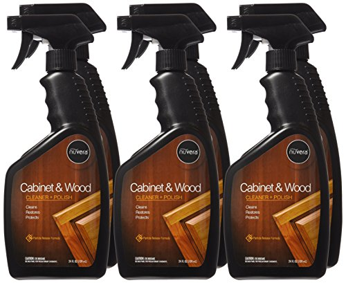 Nuvera Cabinet and Wood Cleaner - Cleans, Polishes & Restores Wooden Surfaces and Furniture - Removes Grease, No Waxy Build Up - 24oz