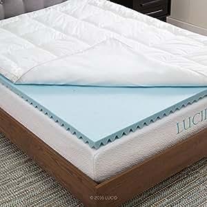 lucid hybrid down alternative gel infused memory foam mattress topper full home. Black Bedroom Furniture Sets. Home Design Ideas