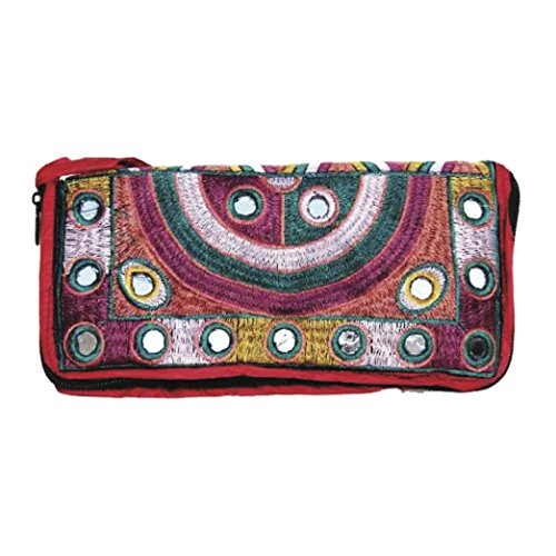 PAKISTANI CLUTCH – EMBROIDERED – HANDMADE – FASHIONABLE – BOHO – RAINBOW DESIGN