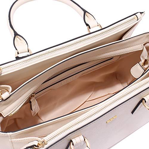 Seventy 8296x Borsa Donna Sacoche Multipoche Femme En Cuir Eco Shopping Ivory Shopping