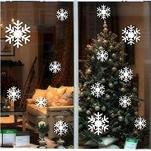 BIBITIME Frozen Snowflake Wall Decor Snow flake Floor Decals Christmas Decoration Decal Window Stickers Home Art Mural