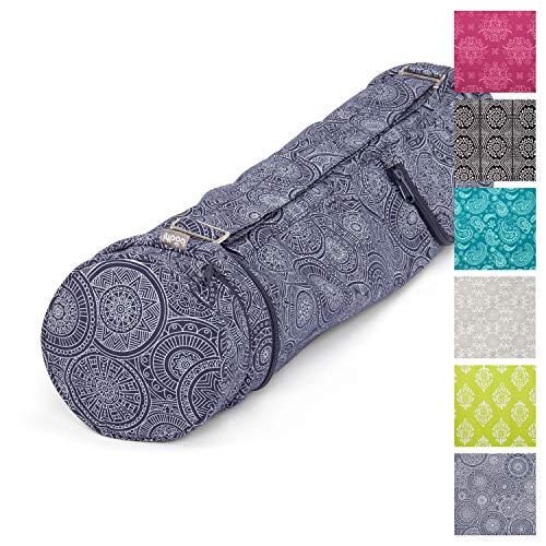 Yoga-Tasche ASANA Bag 70″Mandala, dunkel-blau, Maharaja Collection, 100% Baumwolle (Köper), Für Matten bis 70 cm Breite, 5 mm Dicke und 200 cm Länge