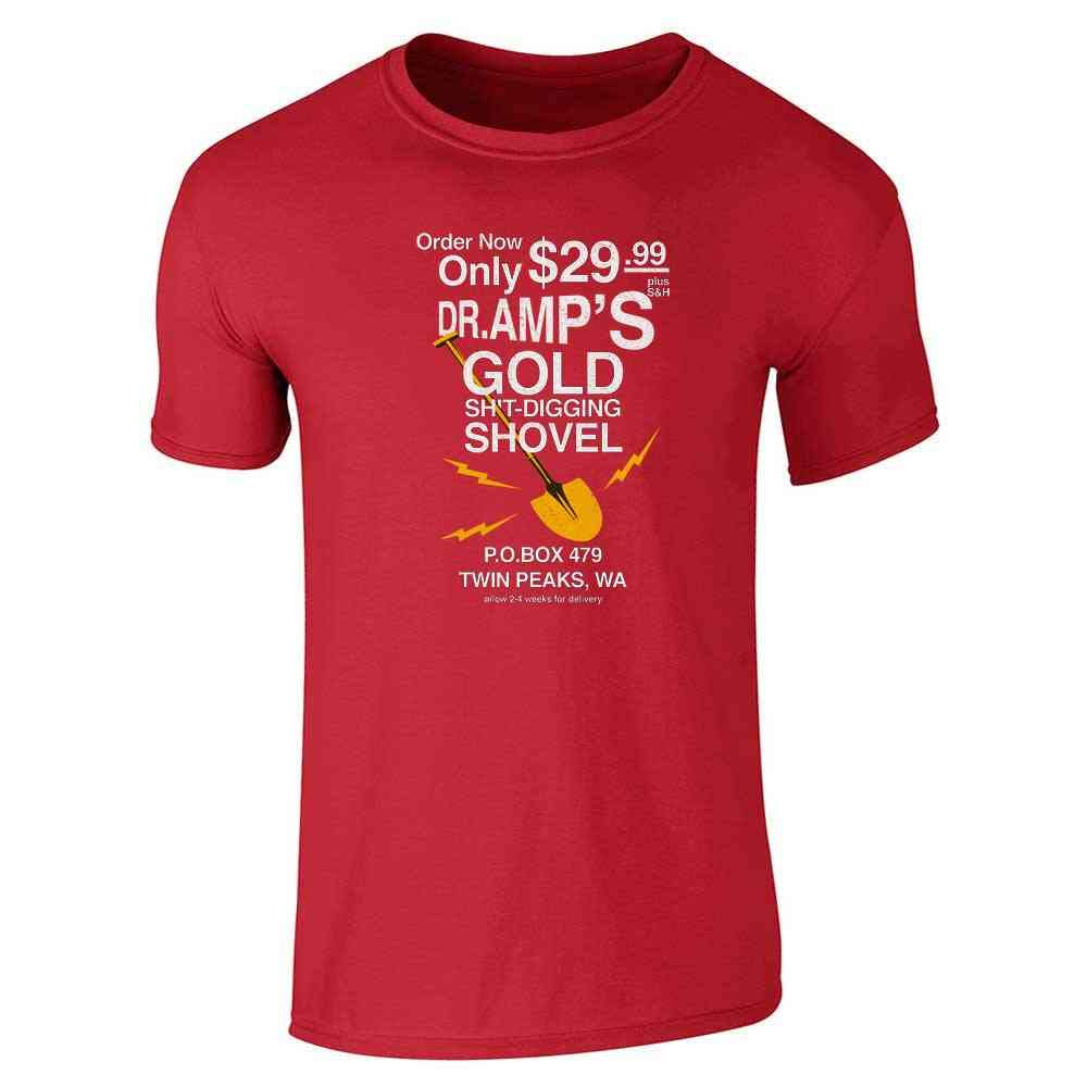 bb8134759f2 Amazon.com  Dr Amp s Gold Shovel Short Sleeve T-Shirt  Clothing