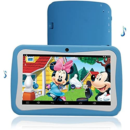 17-Piece Set: Solotab Kids' Google Android 4.4 Quad-core 1.5ghz 8gb 7 Dual-camera Tablet & Accessories - Blue Coupons