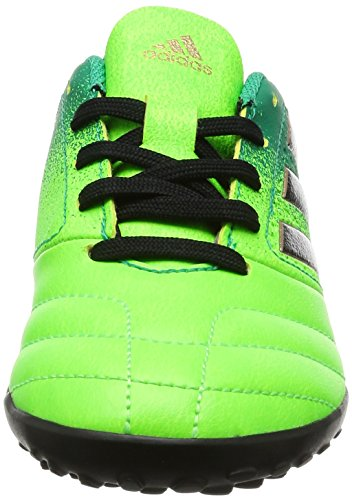 Adidas Ace 17.4 Tf J, para los Zapatos de Entrenamiento de Fútbol Unisex Niños, Verde (Versol/Negbas/Verbas), 38 EU