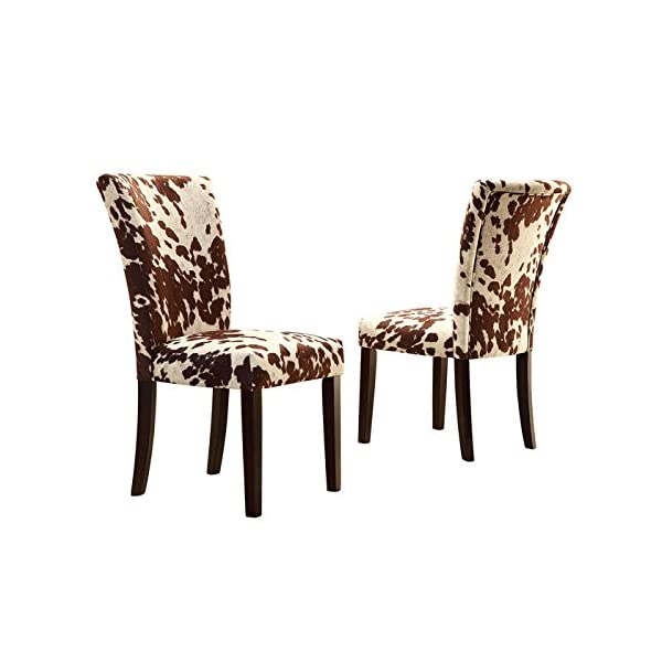Home Creek Julian Black Cowhide-Print Side Chairs - Set of 2