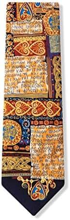 Oath Of Hippocrates Beige Silk Tie