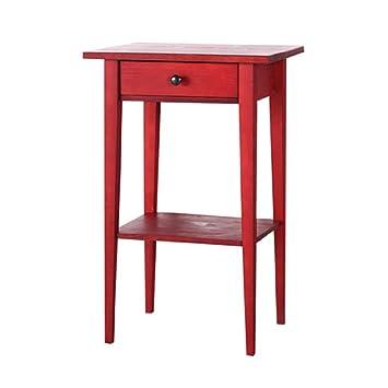 Nachttische Nachttisch Möbel Aus Massivem Holz Nachttisch Schlafzimmer  Nachttisch Nachttisch Schließfächer ( Farbe : Rot )