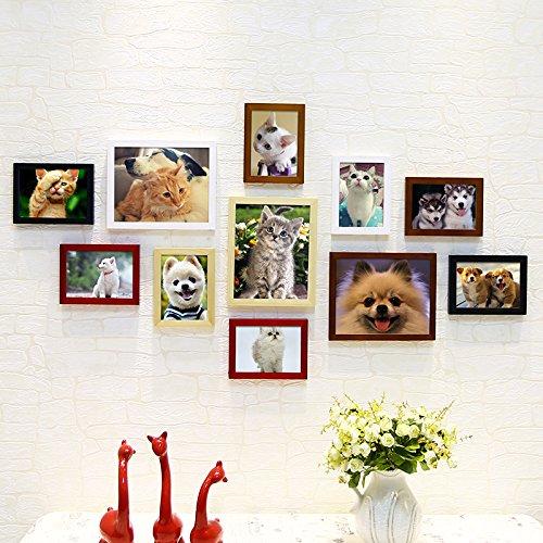 Pet Shop zugunsten von Massivholz Foto wand Kinder sind süßer Hund kreative Fotowand Kombination von dekorativen Wand Bilderrahmen5.Color Mix-and-Match Favorit der Herzen zu sein