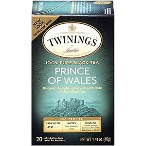 Twinings Black Tea, Prince of Wales, 20 Count Bagged Tea (6 Pack)