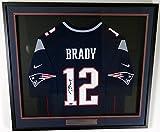 New England Patriots Tom Brady Autographed Framed Blue Nike Jersey - TriStar COA