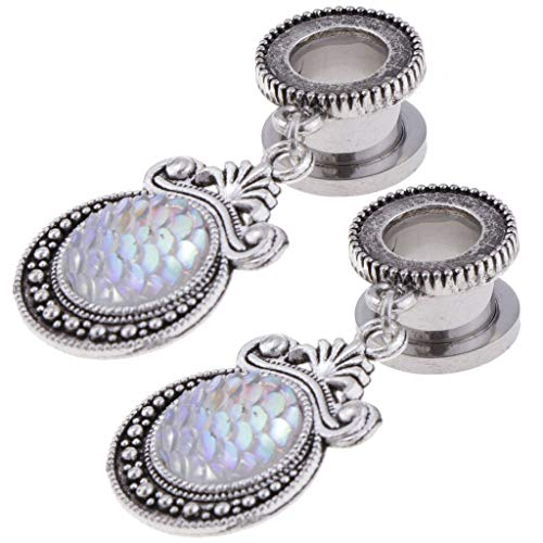 Stainless Ear Piercings Jewelry Accessories Ear Stretcher Ear Plugs Tunnels | Size - 10mm]()