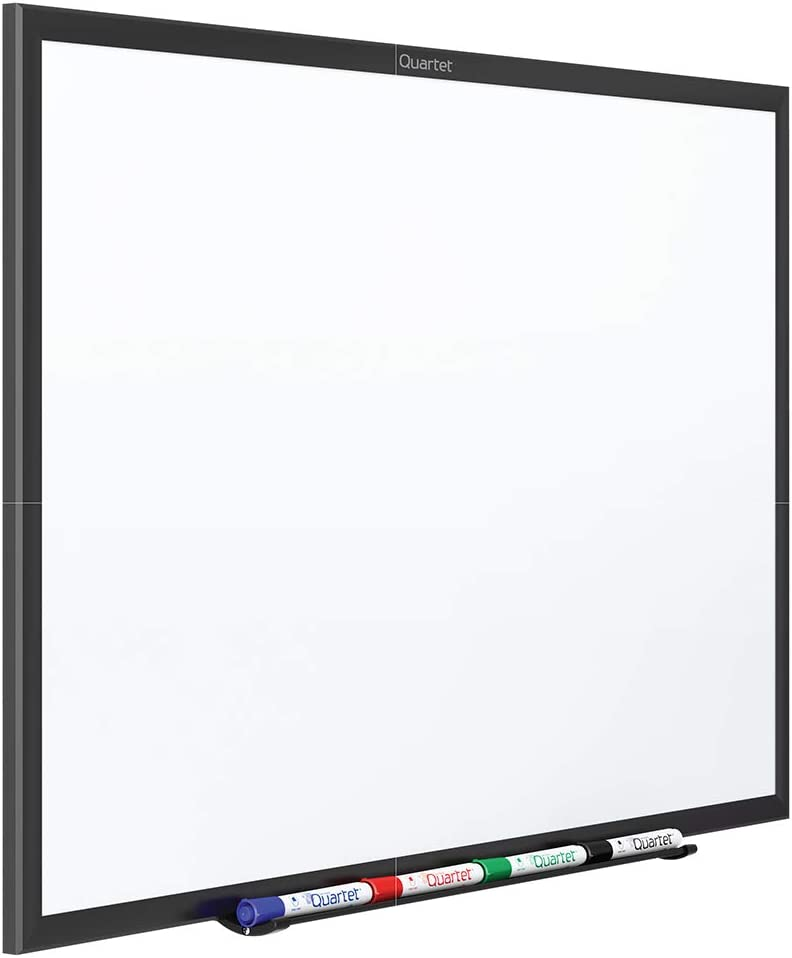 Quartet Magnetic Whiteboard, 6' x 4' White Board, Nano-Clean, Black Aluminum Frame (SM537B)
