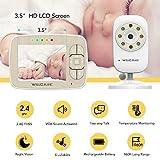 "Baby Monitor -Video Baby Monitor with 3.5"" LCD Screen, Digital Camera, Infrared Night Vision, Two-Way Talk Back, Lullabies, Temperature Monitoring, Long Range Baby Monitors with Camera and Audio"