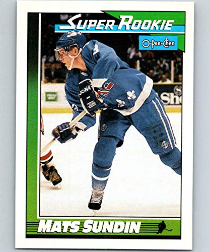 1991-92 O-Pee-Chee #12 Mats Sundin SR Mint Hockey NHL RC Rookie Nordiques
