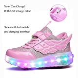 Nsasy Kids Roller Shoes Boy Girl Sneakers with