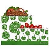 Lunchskins 2 Pack Fruit Zippered Bag Set, Green