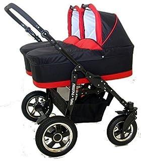 Carro gemelar 3en1 ISOFIX. Capazos+sillas+sillas de coche+ ...