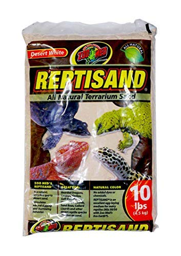 Substrate Calcium (Zoo Med ReptiSand, 10 Pounds, Desert White)