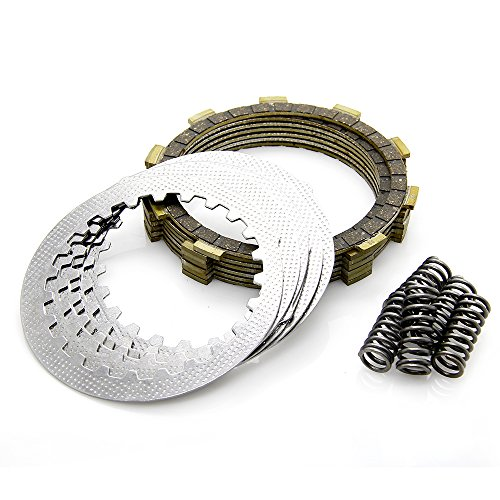 Complete Clutch Kit with Friction Plates Steel Drive Plates & Heavy Duty Springs for 1987-2006 Yamaha Banshee 350 # 1030680048 - Steel Clutch Plate