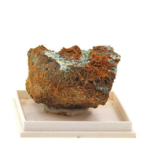 Sénégalite sur Turquoise. 228.9 cts. Mont Kouroudiako, Sénégal, Afrique