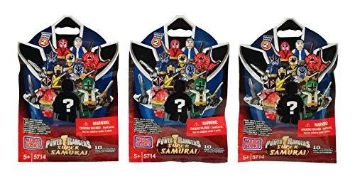 Mega Bloks Power Rangers Super Samurai Series 2 Blind Bag Mystery Packs (3 Packs)